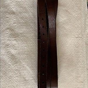Dark brown leather Anthropologie belt